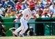 Jul 25, 2013; Washington, DC, USA; Washington Nationals outfielder Denard Span (2) bats during the game against the Pittsburg Pirates at Nationals Park. Mandatory Credit: Brad Mills-USA TODAY Sports