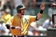 Jul 28, 2013; Oakland, CA, USA; Oakland Athletics infielder Eric Sogard (28) is congratulated by teammates after scoring a run against the Los Angeles Angels in the third inning at O.co Coliseum. Mandatory Credit: Cary Edmondson-USA TODAY Sports
