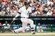 Jul 28, 2013; Detroit, MI, USA; Detroit Tigers first baseman Victor Martinez (41) at bat against the Philadelphia Phillies at Comerica Park. Mandatory Credit: Rick Osentoski-USA TODAY Sports
