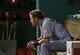 Jul 30, 2013; Arlington, TX, USA; Los Angeles Angels designated hitter Josh Hamilton (32) sits in the dugout during the game against the Texas Rangers at Rangers Ballpark in Arlington. Texas won 14-11.  Mandatory Credit: Kevin Jairaj-USA TODAY Sports