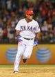Jul 30, 2013; Arlington, TX, USA; Texas Rangers third baseman Adrian Beltre (29) runs the bases during the game against the Los Angeles Angels at Rangers Ballpark in Arlington. Texas won 14-11.  Mandatory Credit: Kevin Jairaj-USA TODAY Sports