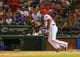 Jul 30, 2013; Arlington, TX, USA; Texas Rangers third baseman Adrian Beltre (29) bats during the game against the Los Angeles Angels at Rangers Ballpark in Arlington. Texas won 14-11.  Mandatory Credit: Kevin Jairaj-USA TODAY Sports