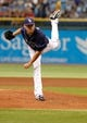 Jul 11, 2013; St. Petersburg, FL, USA; Tampa Bay Rays starting pitcher Matt Moore (55) throws a pitch against the Minnesota Twins at Tropicana Field. Mandatory Credit: Kim Klement-USA TODAY Sports