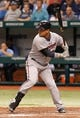 Jul 10, 2013; St. Petersburg, FL, USA; Minnesota Twins left fielder Oswaldo Arcia (31) at bat against the Tampa Bay Rays at Tropicana Field. Mandatory Credit: Kim Klement-USA TODAY Sports