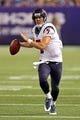Aug 9, 2013; Minneapolis, MN, USA; (Houston Texans quarterback Case Keenum (7) gets ready to pass the ball in the third quarter against the Minnesota Vikings at the metronome. The Texans won 27-13. Mandatory Credit: Jesse Johnson-USA TODAY Sports