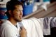 Aug 11, 2013; Los Angeles, CA, USA;   Los Angeles Dodgers starting pitcher Clayton Kershaw (22) during the game against the Tampa Bay Rays at Dodger Stadium. Mandatory Credit: Jayne Kamin-Oncea-USA TODAY Sports