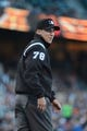 July 9, 2013; San Francisco, CA, USA; MLB umpire Adam Hamari (78) before the game between the San Francisco Giants and the New York Mets at AT&T Park. The Mets defeated the Giants 10-6. Mandatory Credit: Kyle Terada-USA TODAY Sports