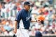 Jul 31, 2013; Detroit, MI, USA; Detroit Tigers pitching coach Jeff Jones (51) during the game against the Washington Nationals at Comerica Park. Mandatory Credit: Rick Osentoski-USA TODAY Sports