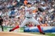 Jul 30, 2013; Detroit, MI, USA; Washington Nationals starting pitcher Stephen Strasburg (37) pitches in the first inning against the Detroit Tigers at Comerica Park. Mandatory Credit: Rick Osentoski-USA TODAY Sports