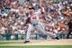 Jul 31, 2013; Detroit, MI, USA; Washington Nationals relief pitcher Ian Krol (46) pitches in the seventh inning against the Detroit Tigers at Comerica Park. Mandatory Credit: Rick Osentoski-USA TODAY Sports