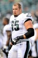 Aug 9, 2013; Philadelphia, PA, USA; Philadelphia Eagles offensive tackle Lane Johnson (65) looks on before the first half of a preseason game against the New England Patriots at Lincoln Financial Field. The Patriots won 31-22. Mandatory Credit: Joe Camporeale-USA TODAY Sports