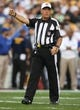 Aug 10, 2013; Pittsburgh, PA, USA; NFL referee Ron Winter (17) gestures during the game between the Pittsburgh Steelers and the New York Giants at Heinz Field. Mandatory Credit: Jason Bridge-USA TODAY Sports
