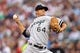 Aug 15, 2013; Minneapolis, MN, USA; Chicago White Sox starting pitcher Andre Rienzo (64) delivers a pitch in the first inning against the Minnesota Twins at Target Field. Mandatory Credit: Jesse Johnson-USA TODAY Sports