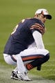 Aug 15, 2013; Chicago, IL, USA; Chicago Bears quarterback Jay Cutler (6) during the second half against the San Diego Chargers at Soldier Field. Chicago won 33-28. Mandatory Credit: Dennis Wierzbicki-USA TODAY Sports