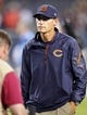 Aug 15, 2013; Chicago, IL, USA;  Chicago Bears head coach Marc Tresyman during the second half against the San Diego Chargers at Soldier Field. Chicago won 33-28. Mandatory Credit: Dennis Wierzbicki-USA TODAY Sports