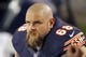 Aug 15, 2013; Chicago, IL, USA; Chicago Bears guard Matt Slauson (68) during the second half against the San Diego Chargers at Soldier Field. Chicago won 33-28. Mandatory Credit: Dennis Wierzbicki-USA TODAY Sports