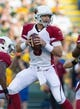 Aug 9, 2013; Green Bay, WI, USA; Arizona Cardinals quarterback Carson Palmer (3) during the game against the Green Bay Packers at Lambeau Field.  The Cardinals won 17-0.  Mandatory Credit: Jeff Hanisch-USA TODAY Sports