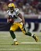 Aug 17, 2013; St. Louis, MO, USA; Green Bay Packers tight end D.J. Williams (84) carries the ball against the St. Louis Rams during the first half at the Edward Jones Dome. Mandatory Credit: Jeff Curry-USA TODAY Sports