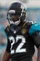 Aug 9, 2013; Jacksonville, FL, USA; Jacksonville Jaguars cornerback Kevin Rutland (22) during the first quarter against the Miami Dolphins at EverBank Field. Mandatory Credit: Kim Klement-USA TODAY Sports