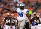 Aug 15, 2013; Cleveland, OH, USA; Detroit Lions defensive tackle Nick Fairley (98) during a preseason game against the Cleveland Browns at FirstEnergy Stadium. Mandatory Credit: Andrew Weber-USA TODAY Sports