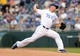 Aug 21, 2013; Kansas City, MO, USA; Kansas City Royals starting pitcher Jeremy Guthrie (11) delivers a pitch in the first inning of the game against the Chicago White Sox at Kauffman Stadium. Chicago won 5-2. Mandatory Credit: Denny Medley-USA TODAY Sports