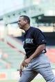 Aug 16, 2013; Boston, MA, USA; New York Yankees third baseman Alex Rodriguez (13) stretches prior to a game against the Boston Red Sox at Fenway Park. Mandatory Credit: Bob DeChiara-USA TODAY Sports