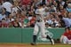 Aug 16, 2013; Boston, MA, USA; New York Yankees right fielder Ichiro Suzuki (31) bats during the first inning against the Boston Red Sox at Fenway Park. Mandatory Credit: Bob DeChiara-USA TODAY Sports