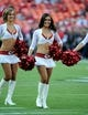 Aug 16, 2013; Kansas City, MO, USA; Kansas City Chiefs cheerleaders perform before the game against the San Francisco 49ers at Arrowhead Stadium. San Francisco won the game 15-13. Mandatory Credit: John Rieger-USA TODAY Sports
