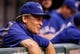 Aug 16, 2013; St. Petersburg, FL, USA; Toronto Blue Jays manager John Gibbons (5) smiles against the Tampa Bay Rays at Tropicana Field. Mandatory Credit: Kim Klement-USA TODAY Sports