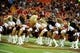 Aug 16, 2013; Kansas City, MO, USA; Kansas City Chiefs cheerleaders perform against the San Francisco 49ers in the second half at Arrowhead Stadium. San Francisco won the game 15-13. Mandatory Credit: John Rieger-USA TODAY Sports