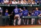 Aug 16, 2013; St. Petersburg, FL, USA; Toronto Blue Jays third baseman Brett Lawrie (13) is congratulated by Toronto Blue Jays manager John Gibbons (5) and teammates in the dugout after he scored a run against the Tampa Bay Rays at Tropicana Field. Tampa Bay Rays defeated the Toronto Blue Jays 5-4. Mandatory Credit: Kim Klement-USA TODAY Sports