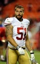 Aug 16, 2013; Kansas City, MO, USA; San Francisco 49ers linebacker Dan Skuta (51) leaves the field after the game against the Kansas City Chiefs at Arrowhead Stadium. San Francisco won the game 15-13. Mandatory Credit: John Rieger-USA TODAY Sports