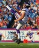 Aug 16, 2013; Orchard Park, NY, USA;  Minnesota Vikings punter Jeff Locke (12) during a game against the Buffalo Bills at Ralph Wilson Stadium.  Mandatory Credit: Timothy T. Ludwig-USA TODAY Sports