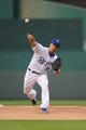 Aug 21, 2013; Kansas City, MO, USA; Kansas City Royals starting pitcher Jeremy Guthrie (11) delivers a warmup pitch during the first inning of the game against the Chicago White Sox at Kauffman Stadium. Chicago won 5-2. Mandatory Credit: Denny Medley-USA TODAY Sports