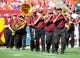 Aug 24, 2013; Landover, MD, USA; Washington Redskins marching band performs before the game against the Buffalo Bills at FedEX Field. Mandatory Credit: Brad Mills-USA TODAY Sports