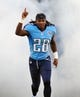 Aug 24, 2013; Nashville, TN, USA; Tennessee Titans running back Chris Johnson (28) is introduced before a game against the Atlanta Falcons at LP Field. The Titans beat the Falcons 27-16. Mandatory Credit: Don McPeak-USA TODAY Sports