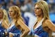 Aug 24, 2013; Nashville, TN, USA; Tennessee Titans cheerleaders watch their team play against the Atlanta Falcons during the first half at LP Field. The Titans beat the Falcons 27-16. Mandatory Credit: Don McPeak-USA TODAY Sports