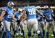 Aug 22, 2013; Detroit, MI, USA; Detroit Lions defensive tackle Ndamukong Suh (90) runs on to the field prior to game against the New England Patriots at Ford Field  Mandatory Credit: Mike Carter-USA TODAY Sports