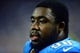 Aug 22, 2013; Detroit, MI, USA; Detroit Lions defensive tackle Nick Fairley (98) during a preseason game against the New England Patriots at Ford Field. Mandatory Credit: Andrew Weber-USA TODAY Sports