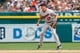 Aug 22, 2013; Detroit, MI, USA; Minnesota Twins shortstop Doug Bernier (17) in the field against the Detroit Tigers at Comerica Park. Mandatory Credit: Rick Osentoski-USA TODAY Sports