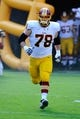 Aug 24, 2013; Landover, MD, USA; Washington Redskins guard Kory Lichtensteiger (78) takes the field before the game against the Buffalo Bills at FedEX Field. Mandatory Credit: Brad Mills-USA TODAY Sports