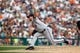 Aug 22, 2013; Detroit, MI, USA; Minnesota Twins relief pitcher Glen Perkins (15) pitches in the ninth inning against the Detroit Tigers at Comerica Park. Minnesota won 7-6. Mandatory Credit: Rick Osentoski-USA TODAY Sports
