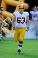 Aug 24, 2013; Landover, MD, USA; Washington Redskins center Will Montgomery (63) takes the field before the game against the Buffalo Bills at FedEX Field. Mandatory Credit: Brad Mills-USA TODAY Sports