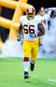 Aug 24, 2013; Landover, MD, USA; Washington Redskins guard Chris Chester (66) takes the field before the game against the Buffalo Bills at FedEX Field. Mandatory Credit: Brad Mills-USA TODAY Sports