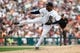 Aug 22, 2013; Detroit, MI, USA; Detroit Tigers relief pitcher Al Alburquerque (62) pitches in the ninth inning against the Minnesota Twins at Comerica Park. Minnesota won 7-6. Mandatory Credit: Rick Osentoski-USA TODAY Sports