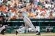Aug 22, 2013; Detroit, MI, USA; Minnesota Twins first baseman Justin Morneau (33) at bat against the Detroit Tigers at Comerica Park. Mandatory Credit: Rick Osentoski-USA TODAY Sports