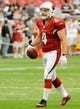 Aug 17, 2013; Phoenix, AZ, USA; Arizona Cardinals kicker Jay Feely (4) practices during warm ups before the first quarter against the Dallas Cowboys at University of Phoenix Stadium. The Cardinals defeated the Cowboys 12-7. Mandatory Credit: Casey Sapio-USA TODAY Sports
