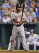 Aug 23, 2013; Kansas City, MO, USA;  Washington Nationals center fielder Denard Span (2) gets ready at the plate against the Kansas City Royals during the fourth inning at Kauffman Stadium.  Mandatory Credit: Peter G. Aiken-USA TODAY Sports
