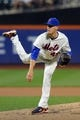 Aug 26, 2013; New York, NY, USA; New York Mets starting pitcher Zack Wheeler (45) pitches against the Philadelphia Phillies during the second inning of a game at Citi Field. Mandatory Credit: Brad Penner-USA TODAY Sports