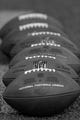 Aug 22, 2013; Baltimore, MD, USA; NFL official footballs await use before the game against the Carolina Panthers at M&T Bank Stadium. Mandatory Credit: Mitch Stringer-USA TODAY Sports